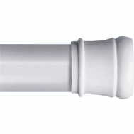 Zenith 506W Zenith Bathstyles White 42 To 72 Inch Shower Tension Rod