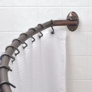 Zenith 35603HB04 Zenith Bathstyles Oil Rubbed Bronze Curved Shower Rod 60 To 72 Inch