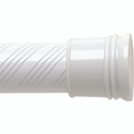 Zenith 801WW/804WW Zenith Bathstyles 42 To 72 Inch White Swirl Tension Rod