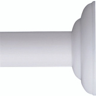 Zenith 653WW/648WW Zenith Bathstyles White Decorative Screw Mounting Rod