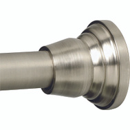 Zenith 661ALBN Zenith Bathstyles Brushed Nickel Decor Finial Shower Rod