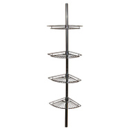 Zenith 2114S Zenith Bathstyles 4 Shelf Pole Caddy Chrome