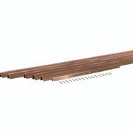 MD Building Products 01305 Bronze Door Weatherstrip 3 Foot By 7 Foot.