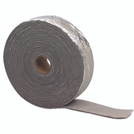 MD Building Products 02394 Black And Silver Foil Pipe Wrap 1/8 Inch By 2 Inch By 30 Foot.