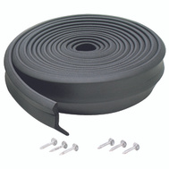 MD Building Products 03723 Black 9 Foot Garage Rubber Door Bottom.