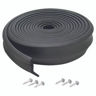 MD Building Products 03749 Black 16 Foot Rubber Garage Door Bottom