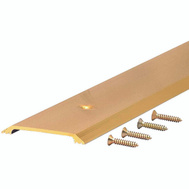 MD Building Products 09613 2-1/2 Inch Wide By 36 Inch Long Gold Flat Threshold
