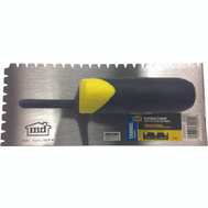 MD Building Products 30000 Premium Flat V Notched Trowel 3/16 By 1/4 By 5/16 Inch Notch