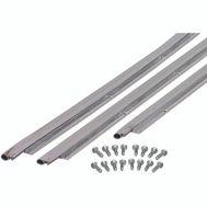 MD Building Products 49002 Jamb Up Weather Strip Satin Nickel.