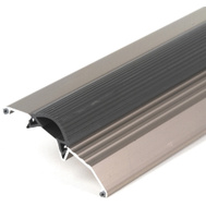 MD Building Products 49004 36 Inch Satin Nickel Threshold With Vinyl Insert