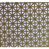 MD Building Products 57141 Aluminum Sheet 2 Foot By 3 Foot Union Jack Pattern Brass Finish