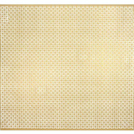 MD Building Products 57281 Aluminum Sheet 3 Foot By 3 Foot Union Jack Pattern Brass Finish