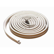 MD Building Products 63628 17 Foot White Self Adhesive D-Strip Rubber Weatherstrip For Medium Gaps