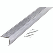 MD Building Products 78105 Stair Edging 1 1/8 Inch By 72 Inch Silver Fluted