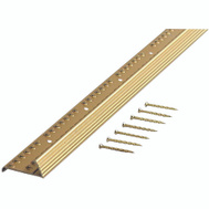 M-D Building Products 79244 Extra Wide Fluted 2-Inch by 36-Inch Carpet Trim Pack of 2 Satin Brass