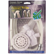 Whedon AFP5C Champagne Massage Shower Hand-Held Kit White