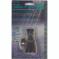 Whedon FP3C Adjust-A-Spray Showerhead 2 Inch Chrome Plated Solid Brass