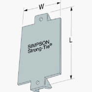 Simpson Strong Tie NS1 1-1/2X3 Nail Stop