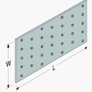 Simpson Strong Tie TP15 G90 1 By 5 Inch Tie Plate