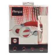Audiovox HP5041 RCA Ampz On Ear Headphones Red And White