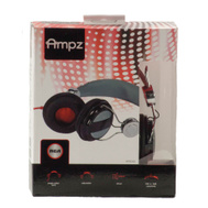 Audiovox HP5042 RCA Ampz On Ear Headphones Black And Gray