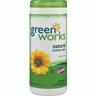 Clorox 30311 Green Works Natural Biodegradable Cleaning Wipes, Original Scent: 30 Count