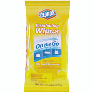 Clorox 30666 Disinfecting Wipes 9Ct Travel Pack Lemon