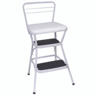 Cosco 11130WHT Stool Counter Chair/Step Wht