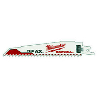 Milwaukee 48-00-5021 The Ax 6 By 1 Inch Reciprocating Saw Blade Pack Of 5
