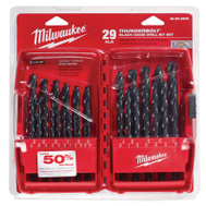 Milwaukee 48-89-2802 Thunderbolt 29 Piece Black Oxide High Speed Drill Bit Set 1/16 To 1/2 Inch