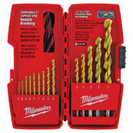 Milwaukee 48-89-0011 Thunderbolt 14 Piece Titanium Drill Bit Set 1/16 To 1/2 Inch