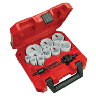Milwaukee 49-22-4025 Hole Dozer 13 Piece Bi Metal Hole Saw Kit 3/4 To 2-1/2 Inch