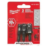Milwaukee 48-32-5023 Shockwave Adpt Ins Sckt St 1/4-3/8-1/2In