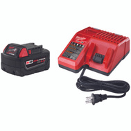 Milwaukee 48-59-1850 M18 Red Lithium XC 5.0 Amp 18 Volt System Battery Starter Kit