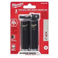 Milwaukee 49-66-4485 Shockwave Impact Duty Socket Set 3Pc 1/2In Dr