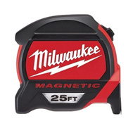 Milwaukee 48-22-0125 25 Foot Heavy Duty Tape Measure With Magnetic Hook And Finger Stop