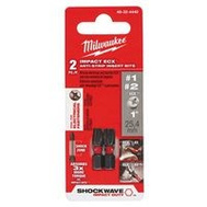 Milwaukee 48-32-4440 Shockwave Bit Impact Ecx1-Ecx2 2Pk 1In