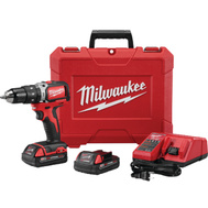Milwaukee 2902-22 M18 M18 1/2 Inch Compact Brushless Hammer Drill Driver Kit 18 Volt
