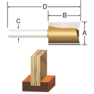 Vermont American 23110 1/2 By 1/2 Inch Mortising Router Bit