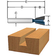 Vermont American 23114 1/2 Inch By 15 Degree Dovetail Router Bit