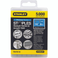 Stanley Tools TRA704-5C Staple 1/4 Inch Heavy Duty Box Of 5000