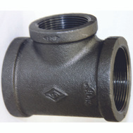 WorldWide Sourcing 11A3/4X1/2B 3/4 By 3/4 By 1/2 Inch Black Pipe Reducing Tee