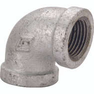 WorldWide Sourcing 2B-1/2X3/8G 1/2 By 3/8 Inch Galvanized 90 Degree Elbow