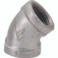 WorldWide Sourcing 4-1/4G 1/4 Inch Galvanized 45 Degree Elbow