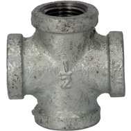 WorldWide Sourcing 0745 1/2 Inch Galvanized Malleable Cross
