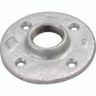 WorldWide Sourcing 27-1/2G Galvanized Malleable Floor Flange 1/2 Inch
