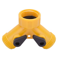 Landscapers Select GC5113L Plastic Y Hose Connector With Shut Off