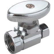 Mintcraft PMB-428-3LF Chrome Plated 1/2 Inch By 3/8 Inch Straight Stop Water Supply Valve