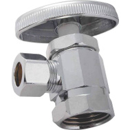 ProSource PMB-429-3LF Mintcraft Chrome Plated 1/2 Inch By 3/8 Inch Angle Stop Valve