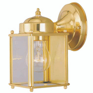 Boston Harbor 4000NH-2-3L 1 Light Brass Porch Wall Lantern